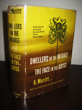 1st Edition thus DWELLERS MIRAGE & FACE IN ABYSS A. Merritt RARE Fantasy FIRST