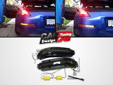 Rear bumper LED Back Reverse light fog lamps Smoked Lens Fits Nissan 350z z33