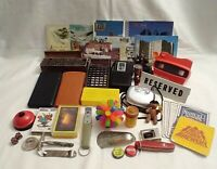 Vintage Junk Drawer Lot Collectibles Santo Ekco Viewmaster Kodak Postcards AS IS