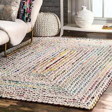 Braided Indian Jute & Cotton Handmade Floor Reversible  Decorative Runner Rug