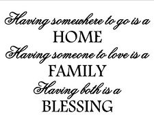 Home Family Blessing Removable Vinyl Wall Door Window Art Decal Sticker Decor