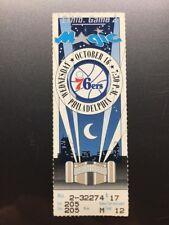 ORLANDO MAGIC PHILADELPHIA 76ers Ticket Stub October 16, 1991 CHARLES BARKLEY