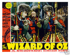 THE WIZARD OF OZ  LOBBY SCENE CARD # 5 POSTER 1939 TIN MAN SCARECROW LION