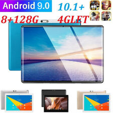 "10.1"" Metal Tablet PC 2.5D HD Screen Android 9.0 Pad 8+128GB GPS Dual SIM Camera"
