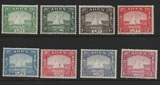 Aden 1937 Dhows SG1-8 lightly mounted mint short set stamps fault on 1A