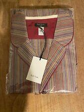 Genuine Paul Smith Men's Signature Stripe Cotton Pyjama Set With Red Trims BNWT