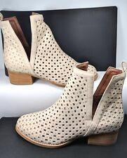 Jeffrey Campbell ORILEY Cutout Beige Leather Ankle Boot Women US 7 Minimal Wear
