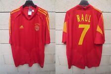 Maillot ESPAGNE Euro 2004 ADIDAS RAUL 7 camiseta ESPANA SPAIN trikot vintage XL
