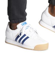 Nuevo adidas Originals Samoa Clásico Zapatillas Cuero Blanco de Hombre Talla