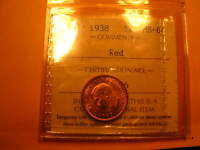 Canada 1938 ICCS Certified MS64 Penny Small Cent ID#T.