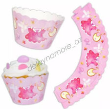 12 x Cupcake Wrappers Baby Shower Party Supplies It's A Girl Aus Free Postage