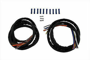 Handlebar Wiring Harness Kit Extended for Harley Davidson by V-Twin