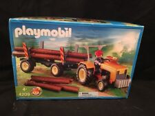 New Playmobil 4209 Farm Series Logger's Tractor and Log Trailer  in Sealed Box