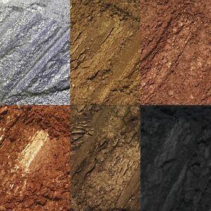 6 pc Gold Bronze Intense Loose Pigment Eyeshadow Set Palette Glitter Fine NEW