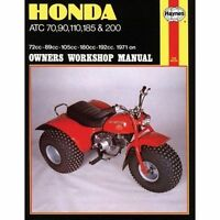 Haynes 565 Manual for Honda ATC 70 90 110 185 200 1971 ONWARDS