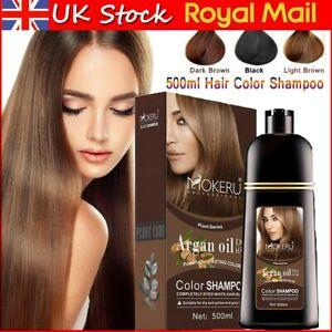 Mokeru Instant Hair Colour Dye Shampoo Natural Coconut/ Argan Oil Care Permanent