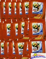 (20) 2010 Panini FIFA World Cup Factory Sealed Sticker Packs-100 MINT STICKERS