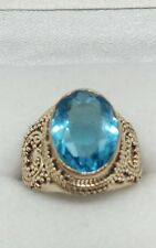 ❤ JAYNES GEMS FLAWLESS   5ct  BLUE TOPAZ. 925 SOLID SILVER  RING SIZE  0