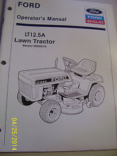Vintage Ford Operators Manual- Lt 12.5 A Lawn Tractor - 1990
