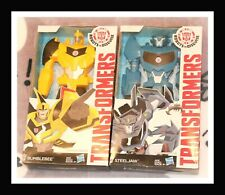 "❤️Transformers 12"" Robots in Disguise Titan Heroes Bumblebee Steeljaw Lot RID❤️"