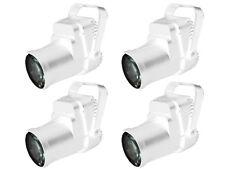 4 x Equinox 3 W LED Pinspot Bianco Alloggiamento MIRRORBALL Mirror Ball luce FASCIO STRETTO