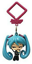 Vocaloid 2'' Hatsune Miku Skeptical Hanger Figure Bag Clip Key Chain NEW