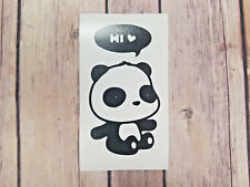 Cute Hi Panda Car Window Home Laptop Yeti Decals. Colors Sizes Available