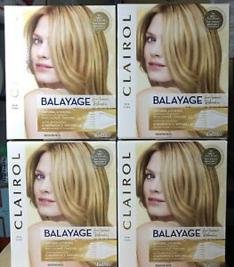 Clairol Balayage Permanent Hair Highlight Kit For Light to Dark Blondes [4 Pack]