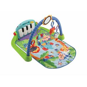 Fisher-Price Baby Discover 'n Grow Kick and Play Piano Gym Green Toy New in Box