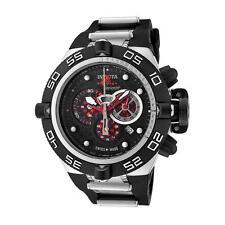 Invicta Men's Subaqua Chrono Black Polyurethane Black Dial Red Subdials 6569