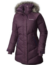 COLUMBIA Womens LARGE Lay D Down Mid Jacket Omni Heat Insulated Warm Winter Coat