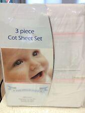 NEW Bubba Blue Cot Sheet Set Baby Girl