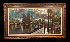 "Vintage oil painting "" Paris Street by artist Soiret"""