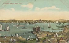 Portland ME about 1850 * Ships and Building Dock * 1916 Post Card