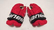 "Used Taylor Hall Bauer Vapor 1X Pro Stock NJ Devils 14"" Hockey Gloves! MeiGray!"