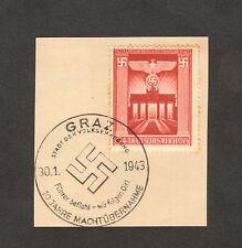 RARE 1943 STAMP GERMANY Mi 829 Führer Befiehl Wir Folgen Dir CANCEL AUSTRIA