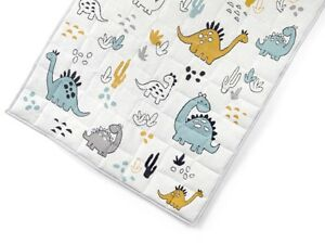 Dino Dinosaur Quilted Toddler Baby Play Mat Tummy Time Nursery Cot Quilt