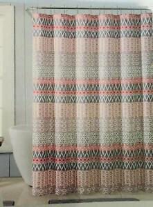 VCNY Home Nomad Multicolored Fabric Shower Curtain