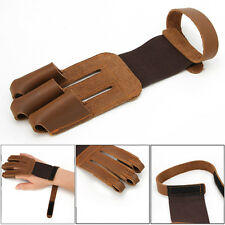 3-Finger Protecting Glove Pulling Bow And Arrow Archery Shooting Leather Gloves