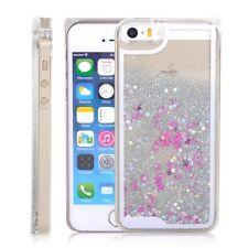La caída de estrellas líquido Brillo 3d Bling Blanco Iphone 5/5s Funda Protectora del Reino Unido Vendedor!