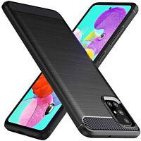 Coque pour Samsung Galaxy A51/A71 Étui Original Carbon + Verre Trempé 9H