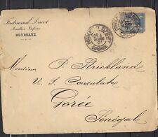 COLONIES GENERALES SENEGAL 1901 SAGE N°90 15 CT POUR GOREE POUR CONSULAT