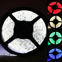 5M 3528 SMD 300 Led Flexible RGB Led Strip String Light White lamp DC 12V