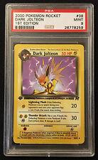 PSA 9 Mint 1st Edition Dark Jolteon 2000 Pokemon Team Rocket 38/82