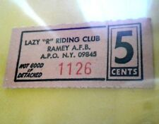 Good for 5c RIDING CLUB RAMEY Air Force AGUADILLA Vale Puerto Rico Trade Token