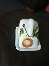 RADFORD WARE  HANDPAINTED BUTTER / CHEESE DISH   BY  RADFORD ENGLAND