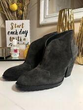 NWOB Women's Andrew Marc Gray Whitney Suede Boots, Sz 7.5M