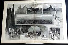 Denver Colorado 1887 Mining Camp Mansion Platt Canon Monument Park Mining Print