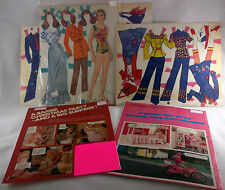 Barbie Magazine and Paper Doll Lot Jean Jeans Kelley 1973