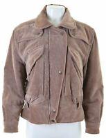 PANCALDI Womens Velvet Jacket IT 42 Medium Lilac Cotton  MO08